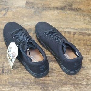 Toms Lenox Casual Sneakers - Men's Size 9 Black